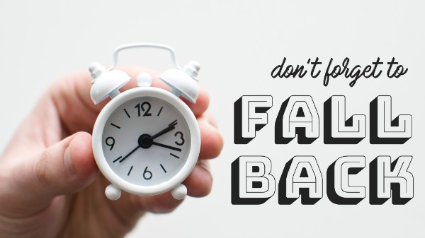 You get an extra hour of sleep this weekend! Don't forget to set your clocks back one hour!