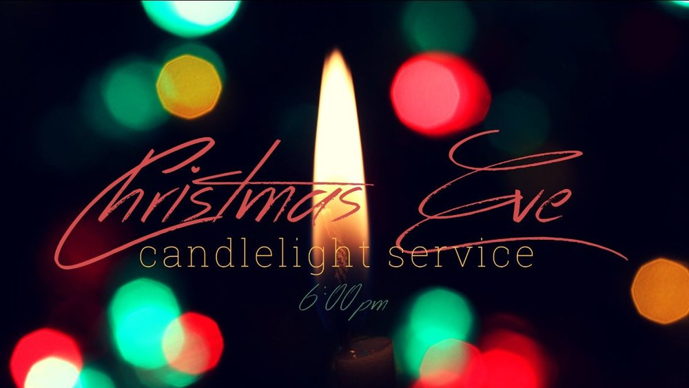 Gather with us on Christmas Eve for a traditional candlelight service.Doors open at 5pm and refreshments will be offered, with time for fellowship.