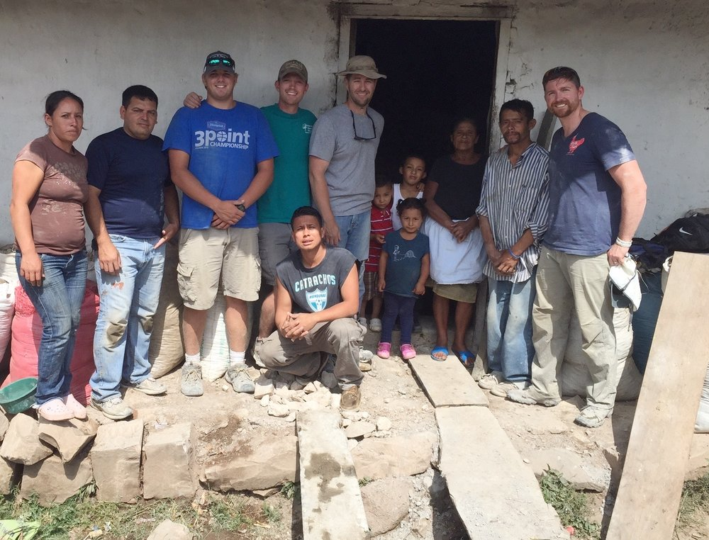 Clark serving on a mission team with his church in Honduras.