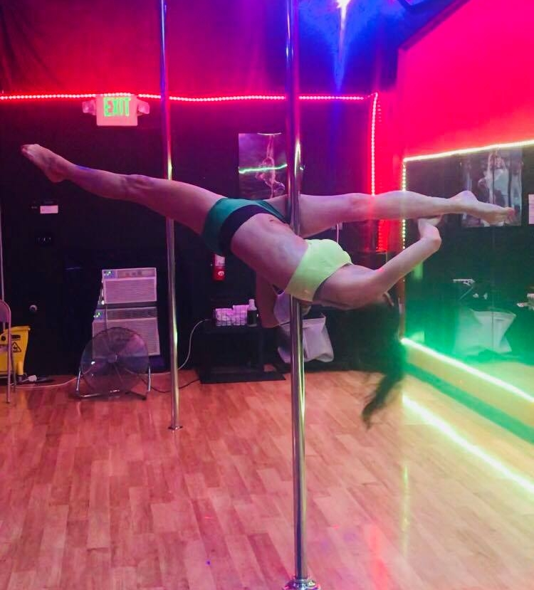 Polenastics - This class is just what it sounds like, the acrobatic/gymnastic style of Pole Dance. Learn a large variety of fun and inspiring moves and combinations great for any level student. Shoes are optional.