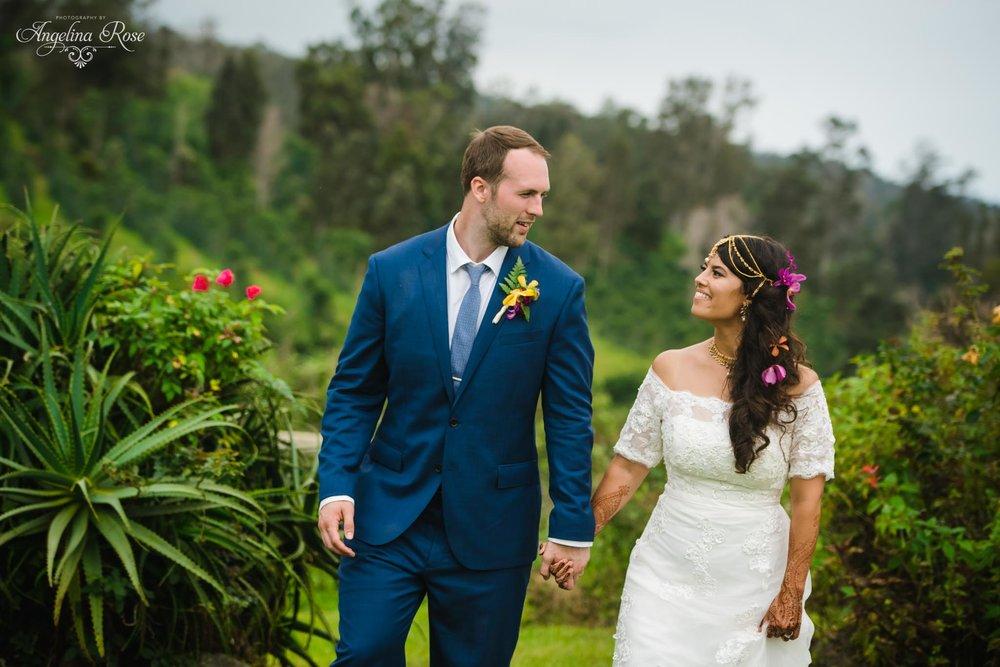 hawaii coffee farm wedding
