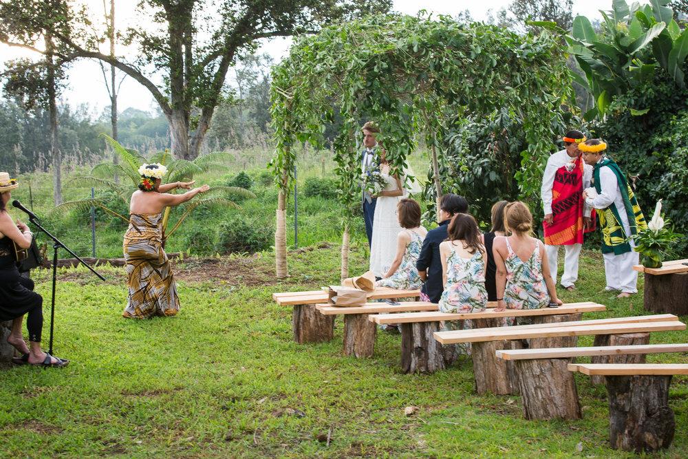 hula dancer Hawaiian wedding