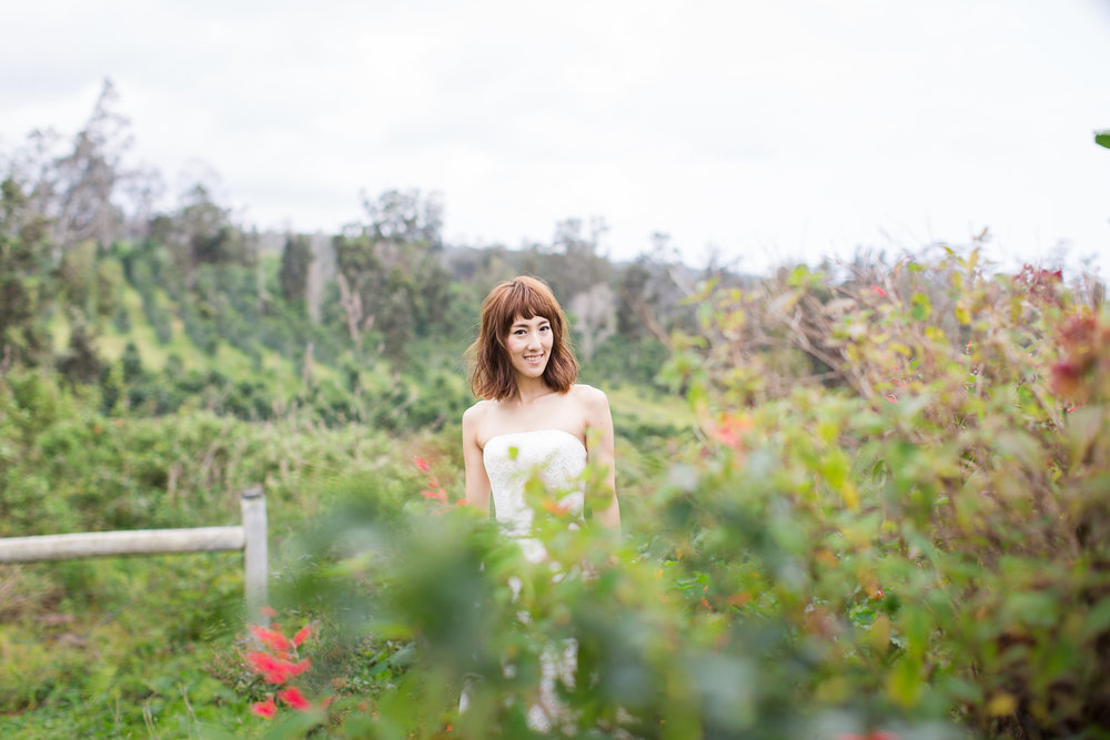 kona coffee farm bride