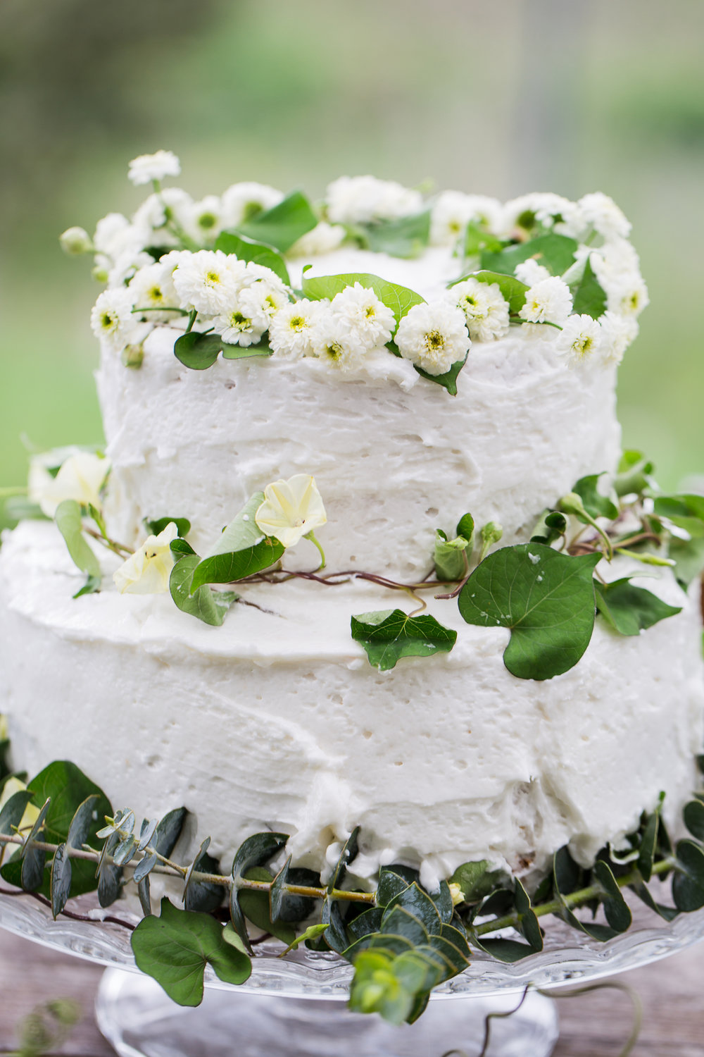 wedding cake with ivy hawaii
