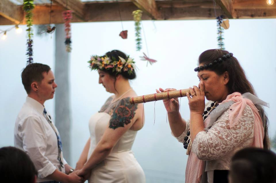 nose flute hawaiian wedding