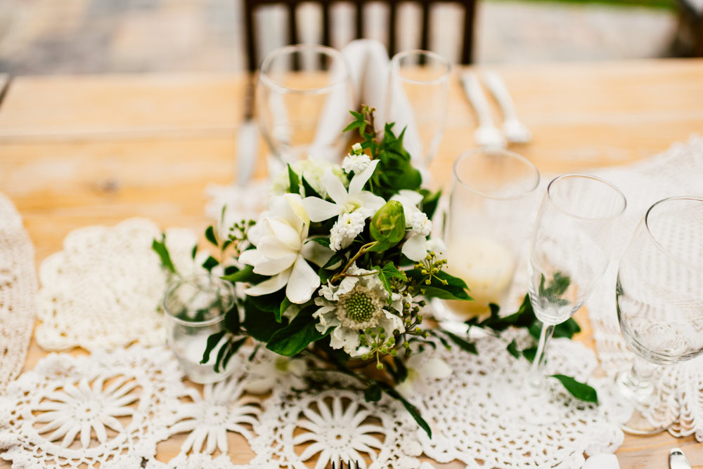 rustic wedding decor wildflowers
