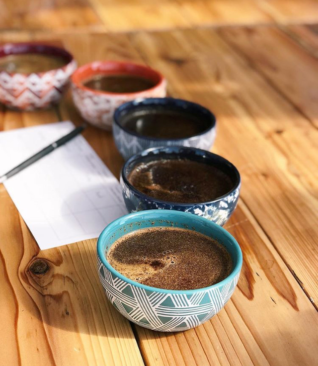kona coffee cupping