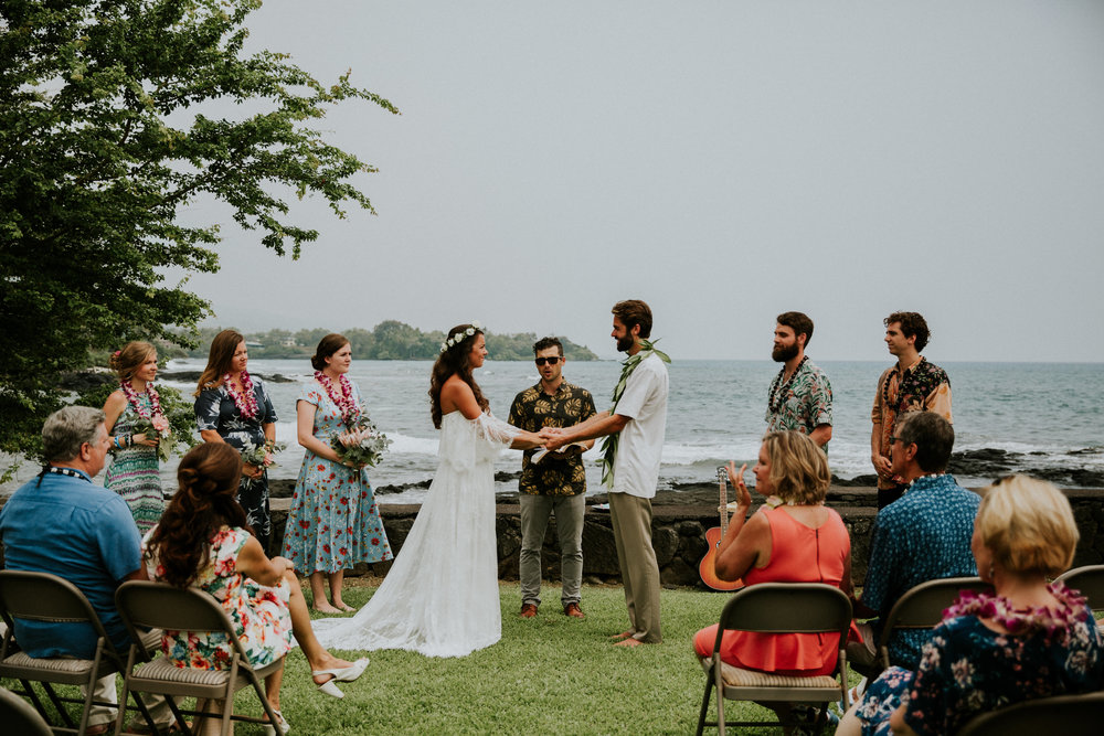 rustic wedding big island