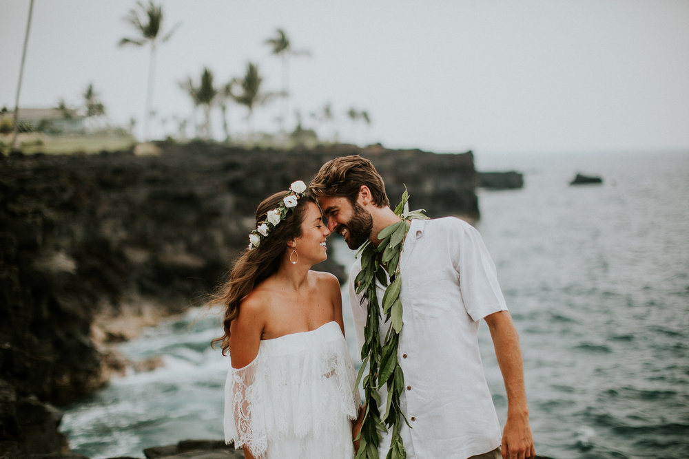 kona end of the world wedding photos