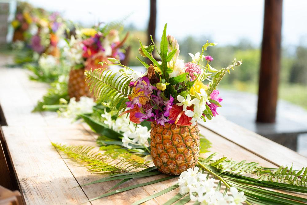 pineapple flower arrangement