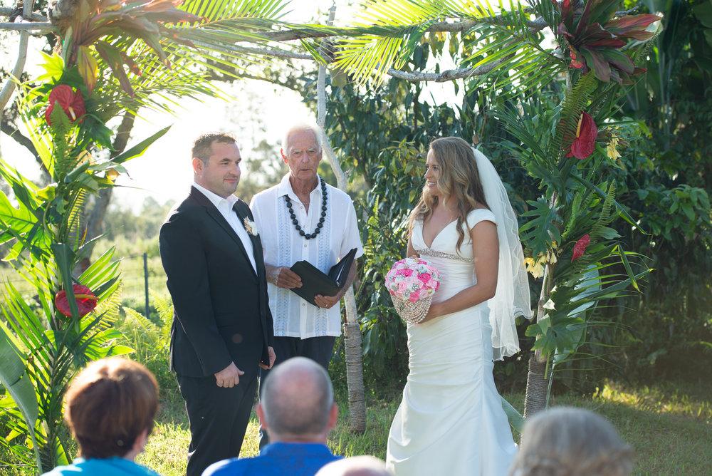 hawaii farm wedding ceremony