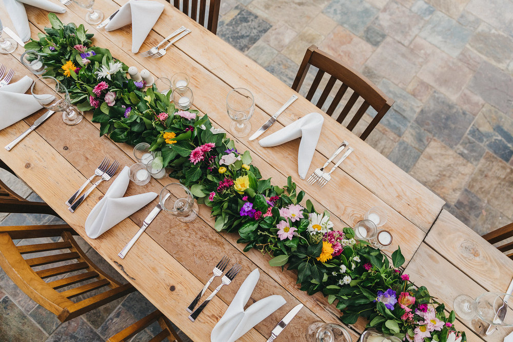 floral table wedding