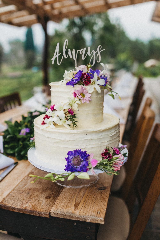 sunshower farms wedding cake
