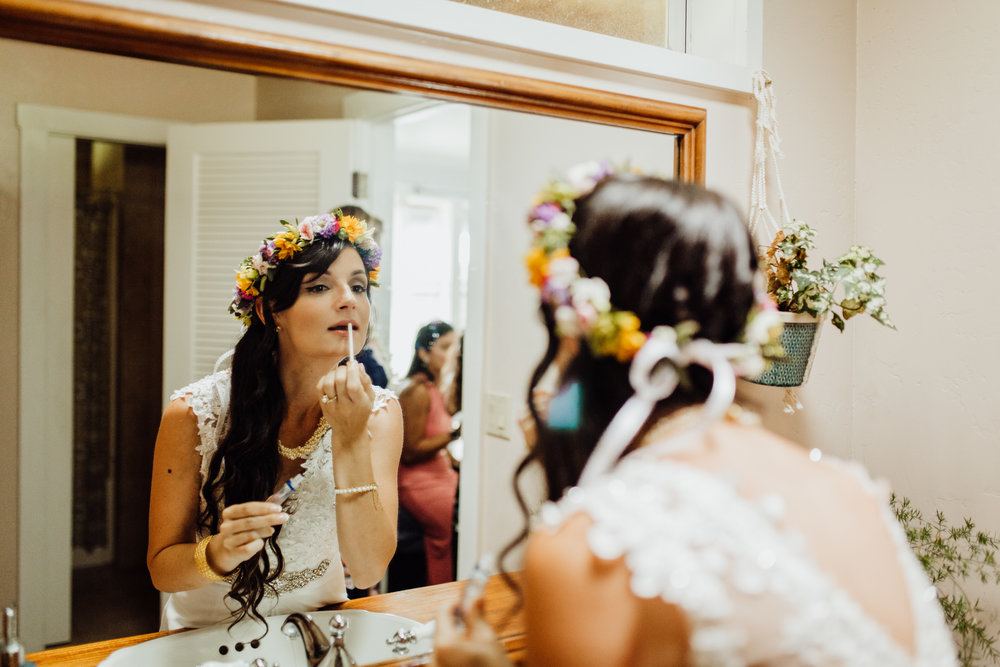 sunshower bridal getting ready room