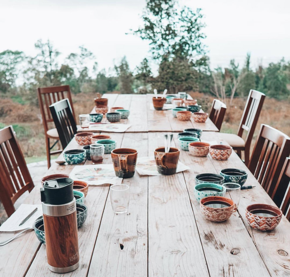 Kona coffee tasting and workshop