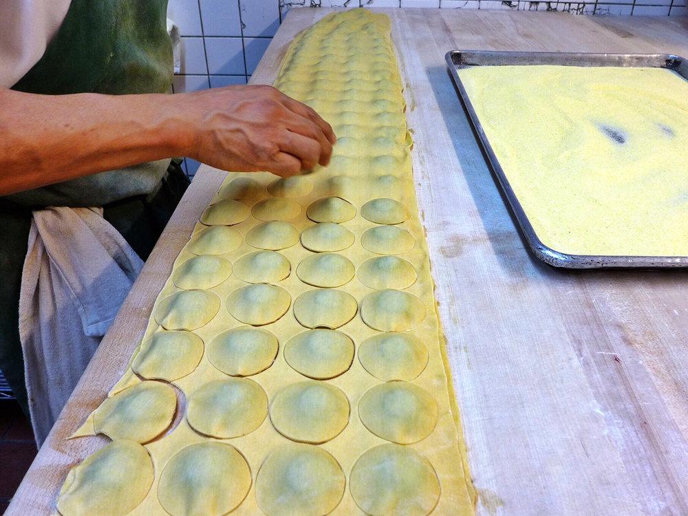 Making Kale Ricotta Ravioli By Hand