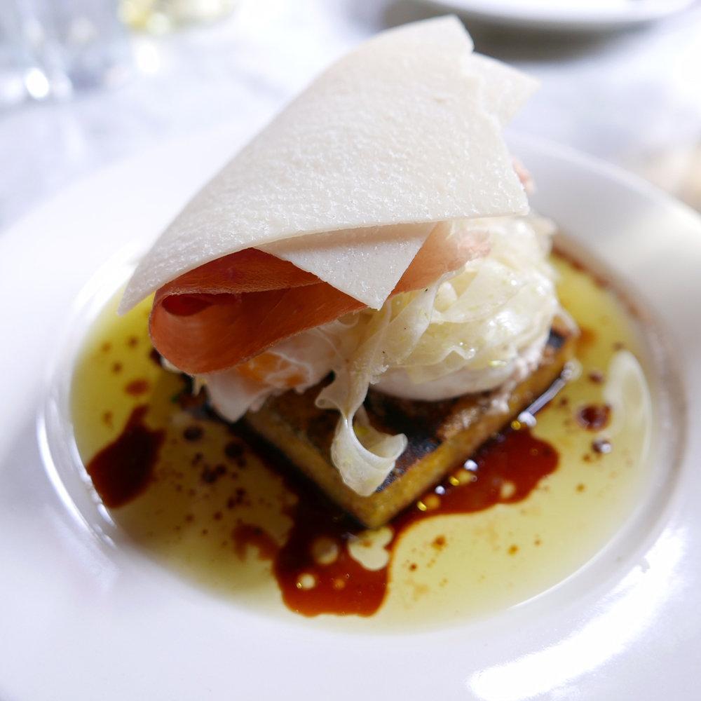 The Grilled Polenta with Prosciutto di Parma