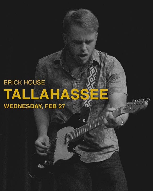 tally! i'm playing at the famous @brickhousetally tomorrow night 7pm! last chance to come see me before our nashville/atlanta dates. see ya there 👀 (photo by @jckpolly)