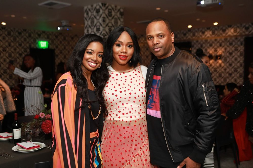 Fearless Magazine Founder Arian Simone,  Sarah Jakes- Roberts  &  Toure Roberts  Pastors of Potters House at One Church LA
