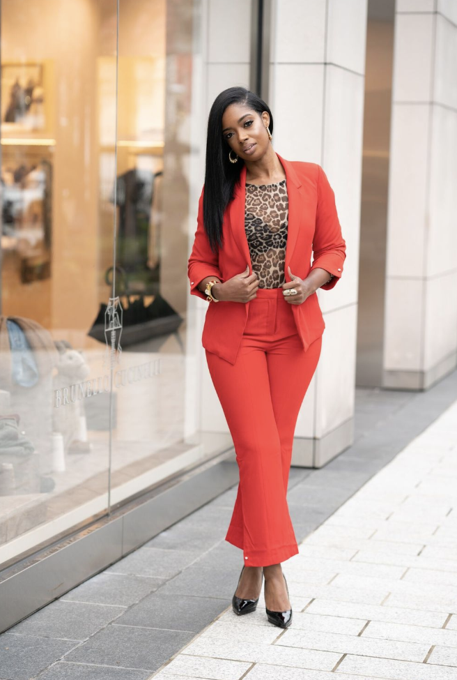 - Statement Suit Jacket- Adding a pop of color can transform a look immensely. With this red blazer, you can take any plain business dress or pair of slacks from drab to fab. It retails for $104. Click here to purchase this product.