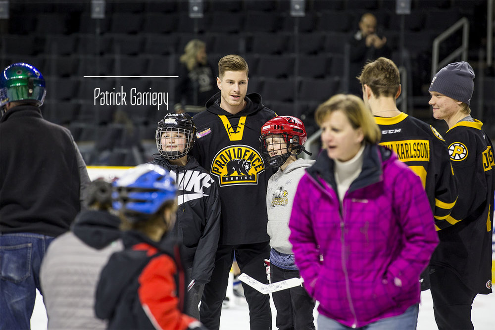 Current Providence/Boston Bruin Peter Cehlarik with some fans