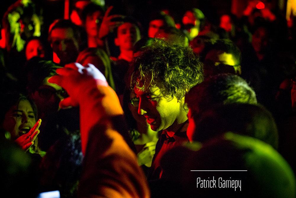 Albert walks through the crowd in attedance.