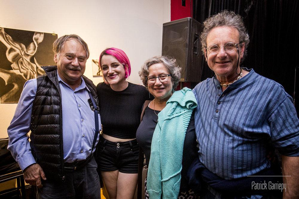 Raskin with her family following night 1.