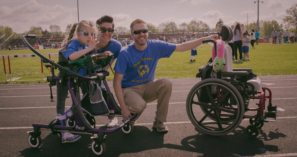 Colbie, Mariel and Heath at the 2016 Special Olympics at Ely Stadium in Elyria, Ohio.