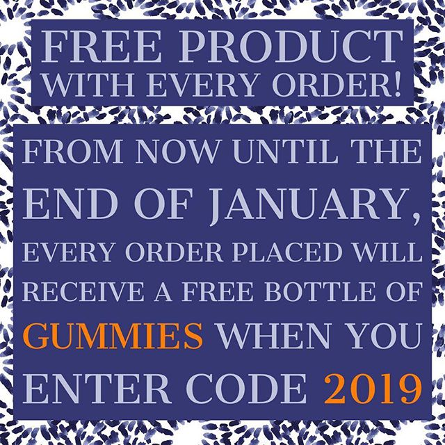 #Free #hemp oil infused #gummies with every purchase until the end of January when you enter the promo code 2019 at checkout! What are you waiting for? Get to ColoradoConcentrations.com to claim yours! #cbd #nyc #la #miami #chicago #denver #healthylifestyle #giveaway