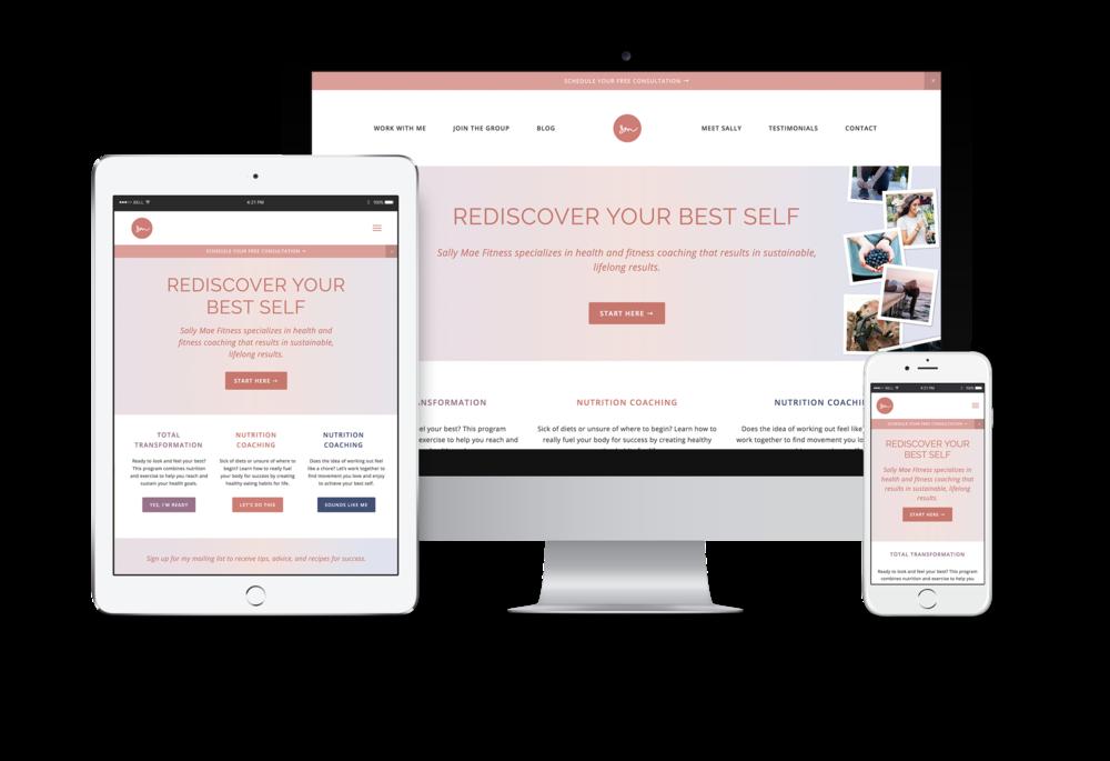Website design for Sally Mae Fitness
