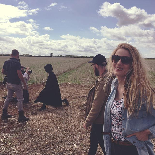 empty fields, drones & fifties clothing for day one of filming 🎥