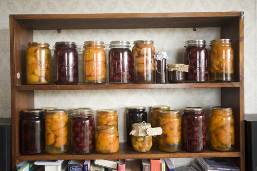 Home preserves in student flat, Dunedin, New Zealand