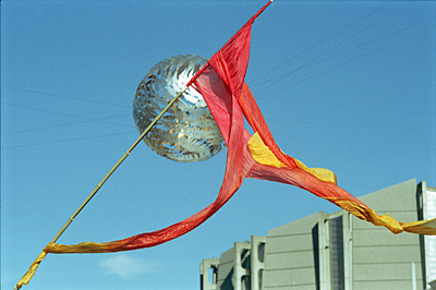 Flag flying at Dwali Festival in Wgtn, New Zealand.