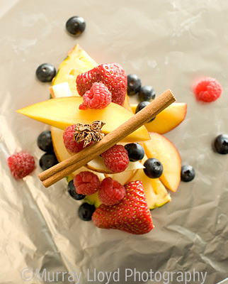En Papillote summer fruit and spice by Adam Newell