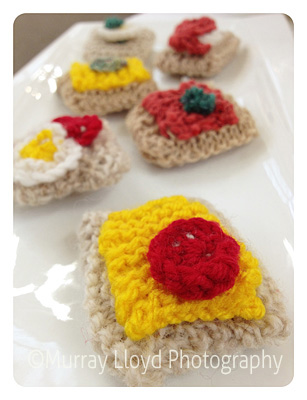Wool crackers at Mad Hatter's tea party in New Zealand