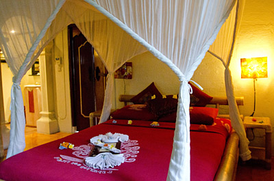 Interior of Rama Room at Swasti Eco Cottage
