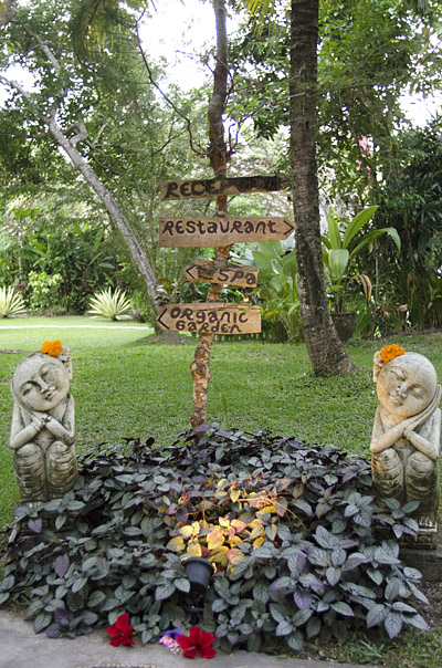 Entrance to Swasti Eco Cottages in Ubud, Bali