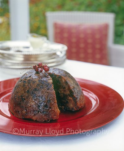 Traditional Christmas pudding by Ruth Pretty.