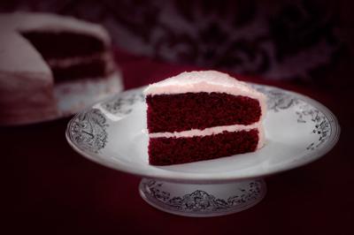 Blood velvet cake