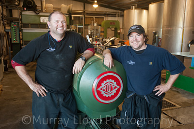 Nathan Casey and Peter Smith from Village Press Olive Oil, in Hawkes Bay