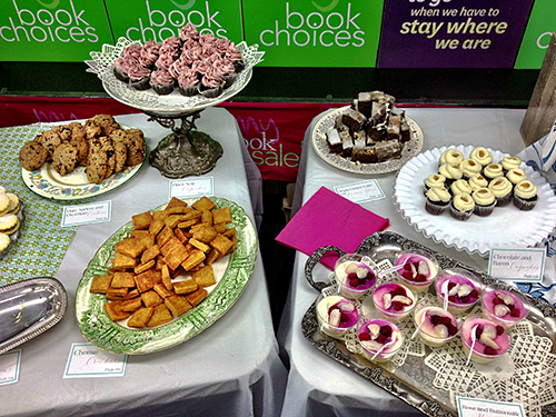 Food from Alice in Bakingland cookbook at book launch.