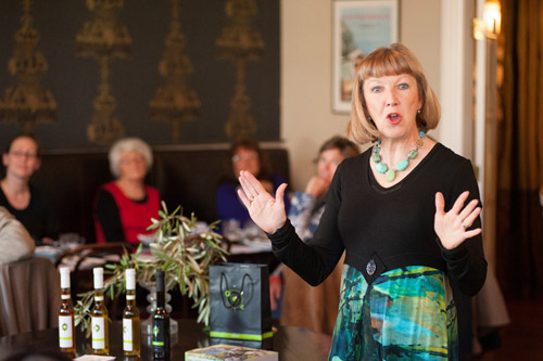 Helen Meehan explains Olivo Oil at Martinborough Hotel