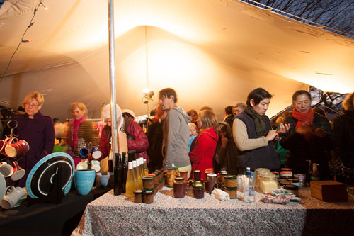 Visitors at Night Market at Martinborough Olive Harvest Festival.