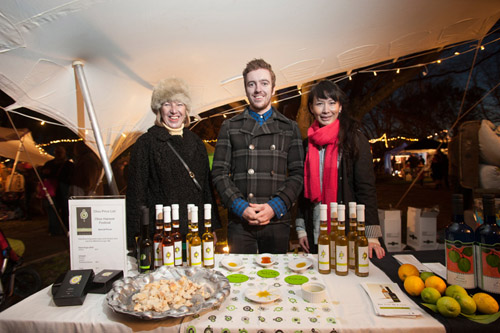 The Olivo crew at Martinborough Olive Harvest night market.