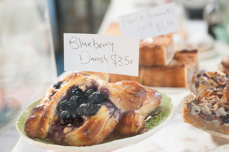 Blueberry muffins at Bus Stop Cafe in Te Horo, New Zealand