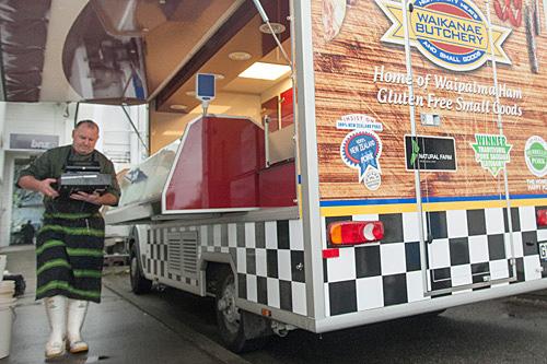Waikane Butcher mobile van.