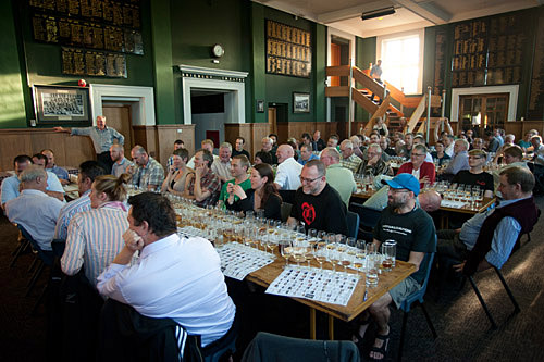 crowd at whisky tasting in Wellington.
