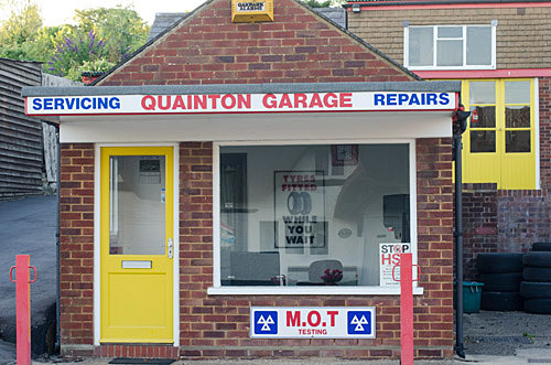 Quainton Garage in England