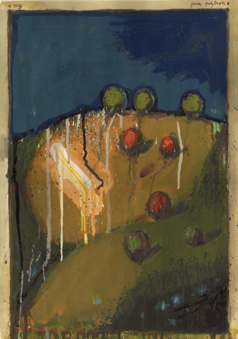 Hrib   1979, akvarel na papirju, A3