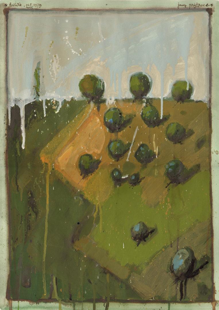Hrib II   1979, akvarel na papirju, A3